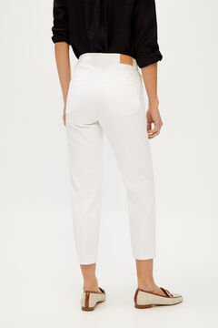 Cortefiel White mom fit jeans White