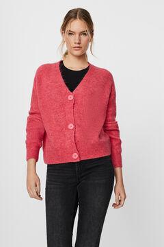 Cortefiel Knit cardigan Pink