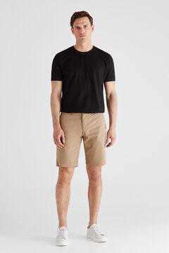 Cortefiel Seersucker Bermuda shorts Mink