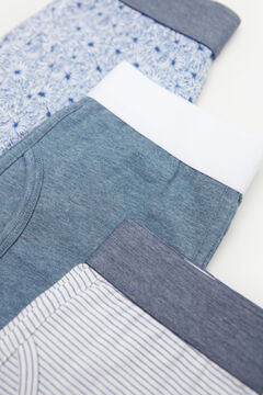 Cortefiel 3-pack jersey-knit boxers Blue jeans