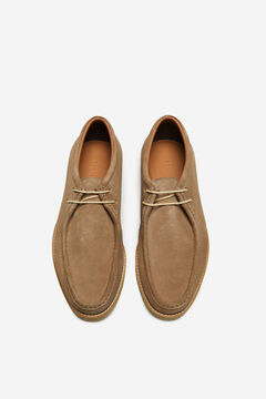 Cortefiel Lace-up rubber sole shoe Stone