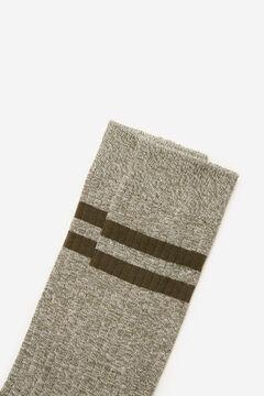 Cortefiel Plain ribbed sports socks Pink