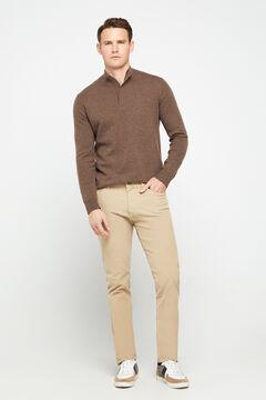 Cortefiel Slim fit corduroy jeans  Stone