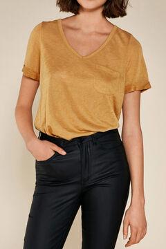 Cortefiel Camiseta manga corta Amarillo