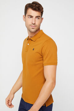 Cortefiel Essential short-sleeved polo shirt Beige
