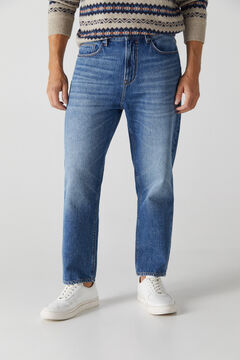 Cortefiel Relaxed dark wash jeans Bluejeans
