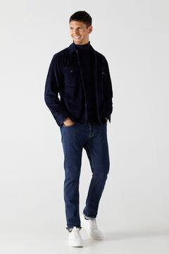 Cortefiel Corduroy overshirt Royal blue