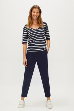 Cortefiel Stretch trousers Navy