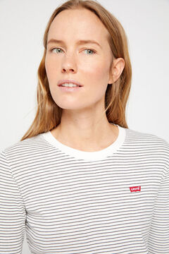 Cortefiel Cotton long-sleeved Levi's® striped T-shirt Dark gray