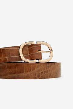 Cortefiel Essential animal belt Tobaco
