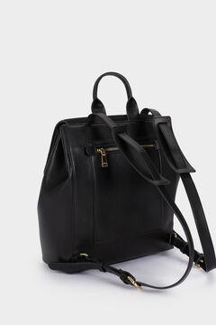 Cortefiel Textured backpack  Black