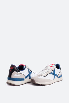 Cortefiel Munich men's trainers in white with split cow leather and nylon White