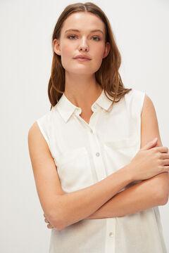 Cortefiel Sleeveless shirt White