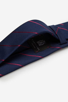 Cortefiel Striped tie Plum