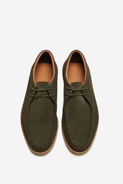 Cortefiel Lace-up rubber sole shoe Dark gray