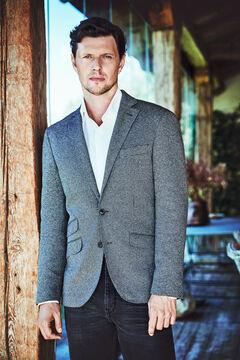 Cortefiel Jersey-knit blazer Marengo