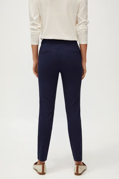 Cortefiel Skinny fit high waist comfort trousers Navy