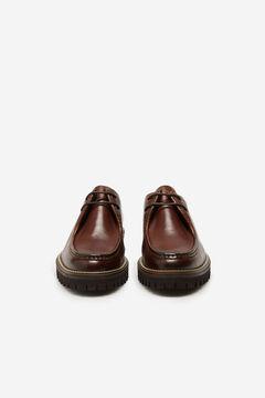 Cortefiel Lace-up rubber sole shoe Dark brown