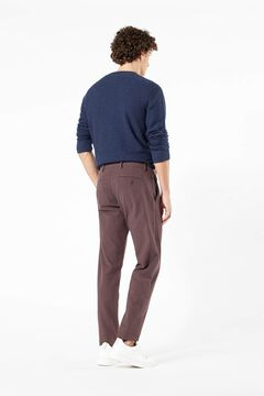 Cortefiel Supreme Flex™ Dockers® Dobby fabric trousers Dark brown