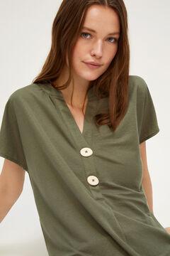 Cortefiel Comfort blouse Dark gray