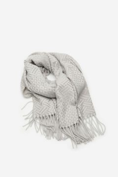 Cortefiel Jacquard scarf Dark gray