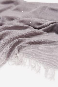 Cortefiel Chunky sequin scarf Grey