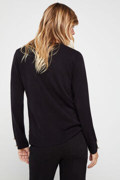 Cortefiel Soft touch jumper Black