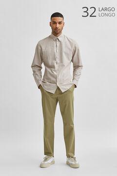 Cortefiel Slim fit trousers Pistachiogreen