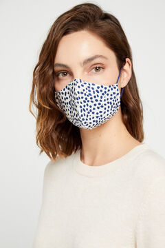 Cortefiel Reusable polka-dot face mask White