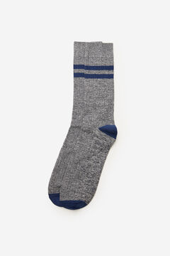 Cortefiel Plain ribbed sports socks Blue jeans