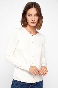 Cortefiel Lurex trim jacket White
