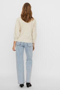 Cortefiel Jersey-knit jumper Stone