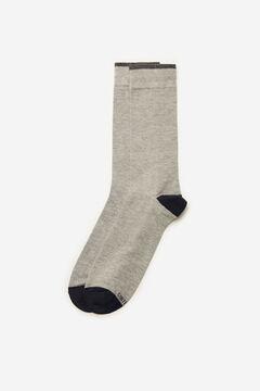 Cortefiel Plain sports socks Gray