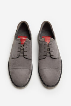Cortefiel Lace-up rubber sole shoe Dark gray