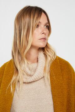 Cortefiel Long wool blend coat Beige