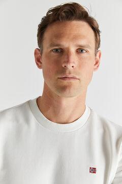 Cortefiel Sweatshirt BALIS CREW Napapijri Branco