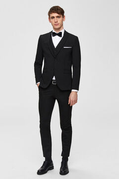 Cortefiel Slim fit blazer Black