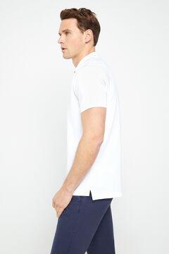 Cortefiel Short-sleeved logo polo shirt White