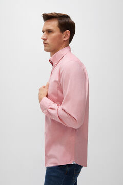 Cortefiel Plain organic cotton Oxford shirt Orange