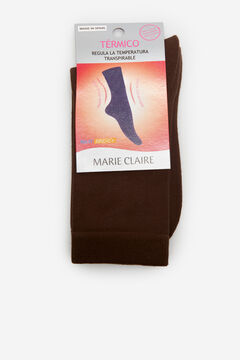 Cortefiel Thermal socks Dark brown