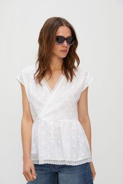 Cortefiel Embroidered body White