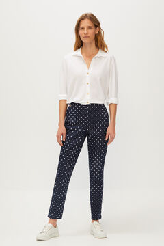 Cortefiel Stretch trousers Blue