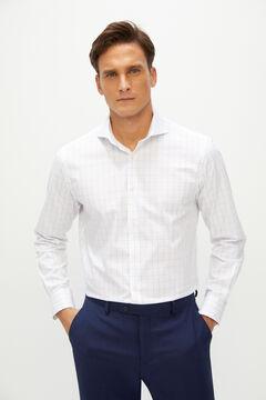 Cortefiel Camisa de vestir Coolmax Ecomade® tailored fit Azul