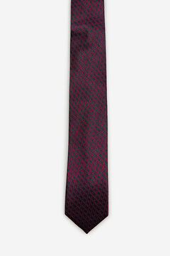 Cortefiel Patterned jacquard tie Red
