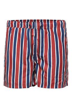 Cortefiel Printed swim shorts Red