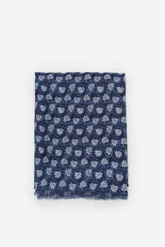 Cortefiel Recycled polyester floral print scarf Blue