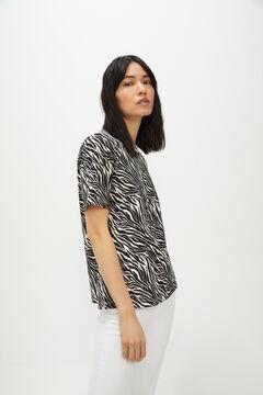 Cortefiel Essential crew neck t-shirt Gray