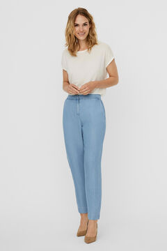 Cortefiel Ankle-length trousers Royal blue