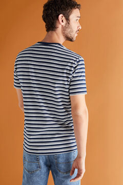 Cortefiel Organic cotton t-shirt Navy