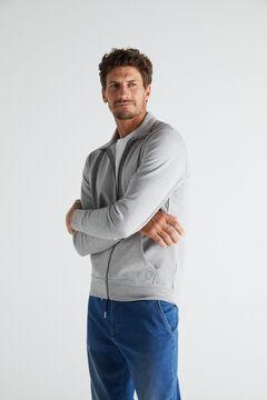 Cortefiel Zipped sweatshirt Gray